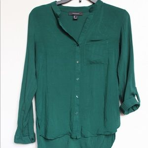 Green blouse button up